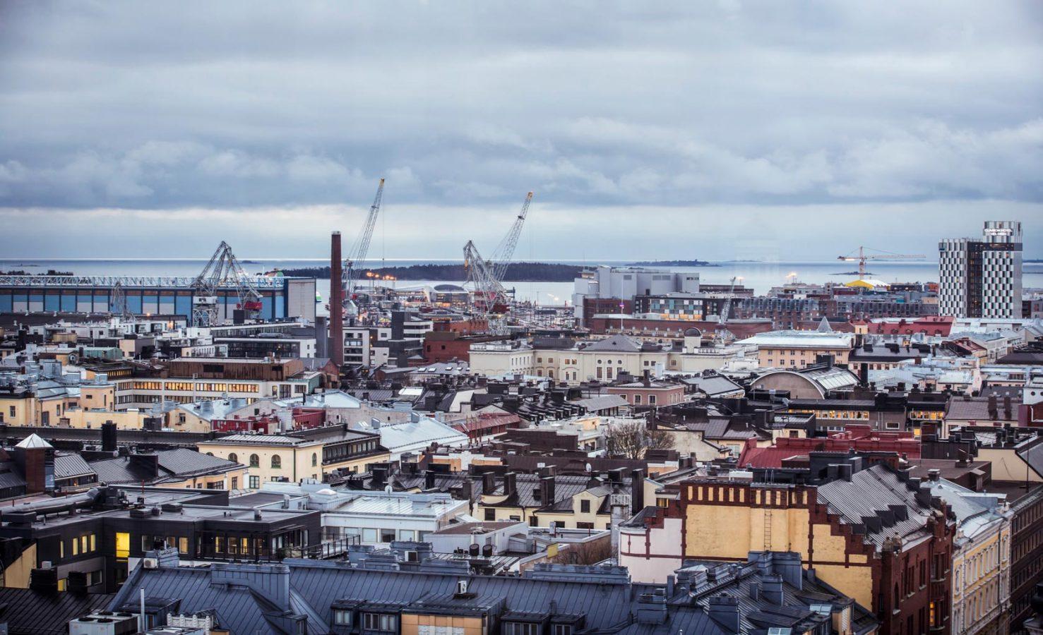 Ilmakuva: Länsisatama, Jätkäsaari, Punavuori. Helsinki Marketing / Elise Kulmala