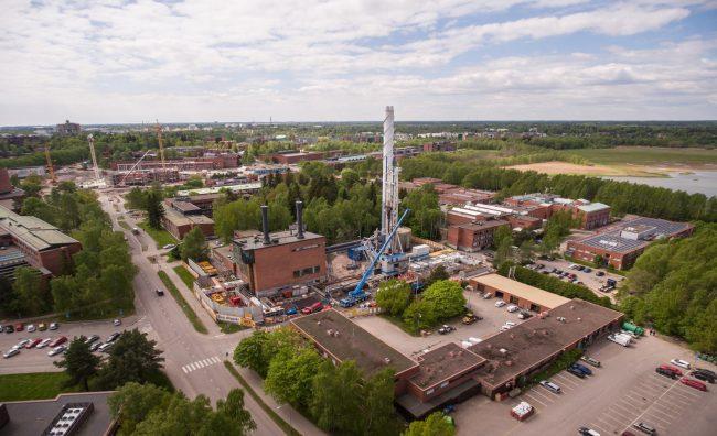 Geoterminen pilottilaitos Otaniemessä.