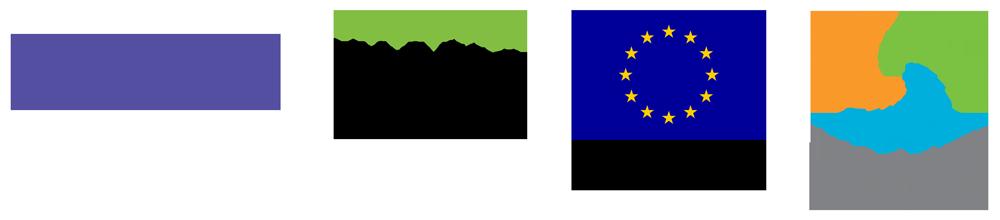 6Aika-logokokonaisuus EAKR-hankkeille.