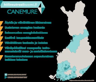 Canemure-hanke kartalla